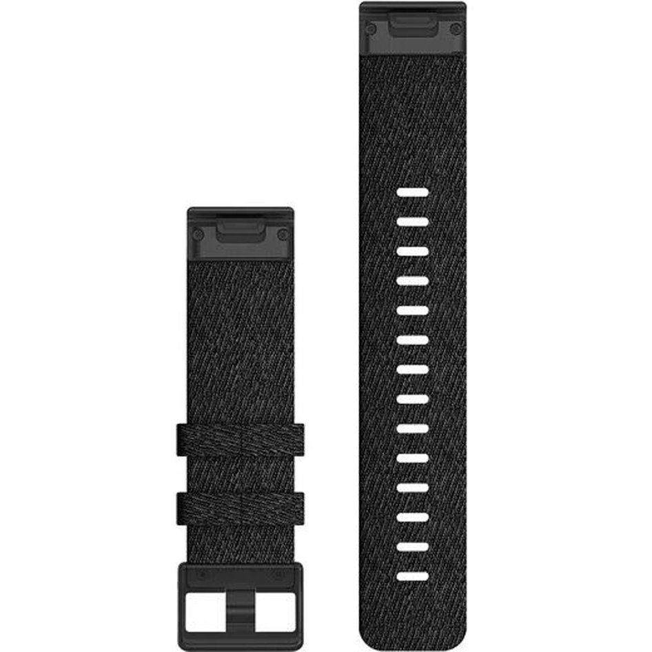 GARMIN QuickFit 22 Heathered Black Nylon Replacement Strap