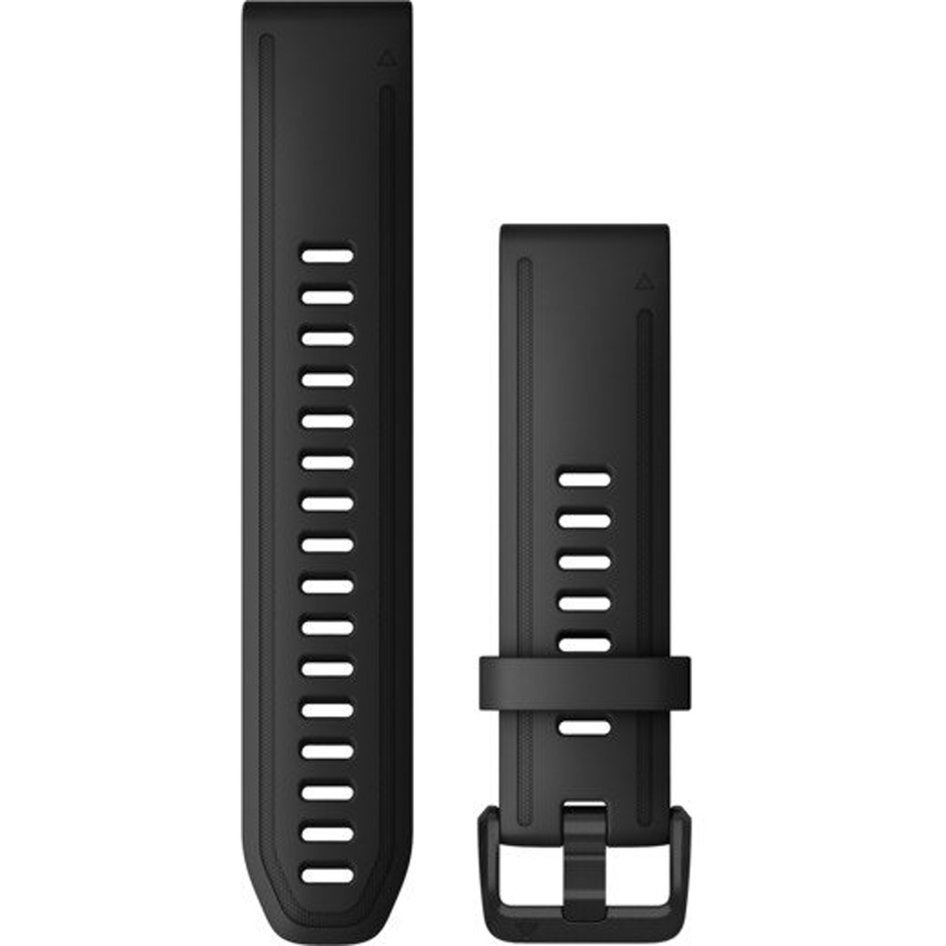 GARMIN QuickFit 20 Black Silicone Replacement Strap