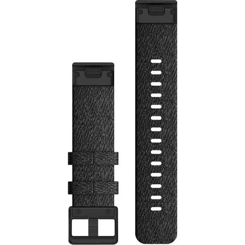 GARMIN QuickFit 20 Heathered Black Nylon with Black Hardware Replacement Strap