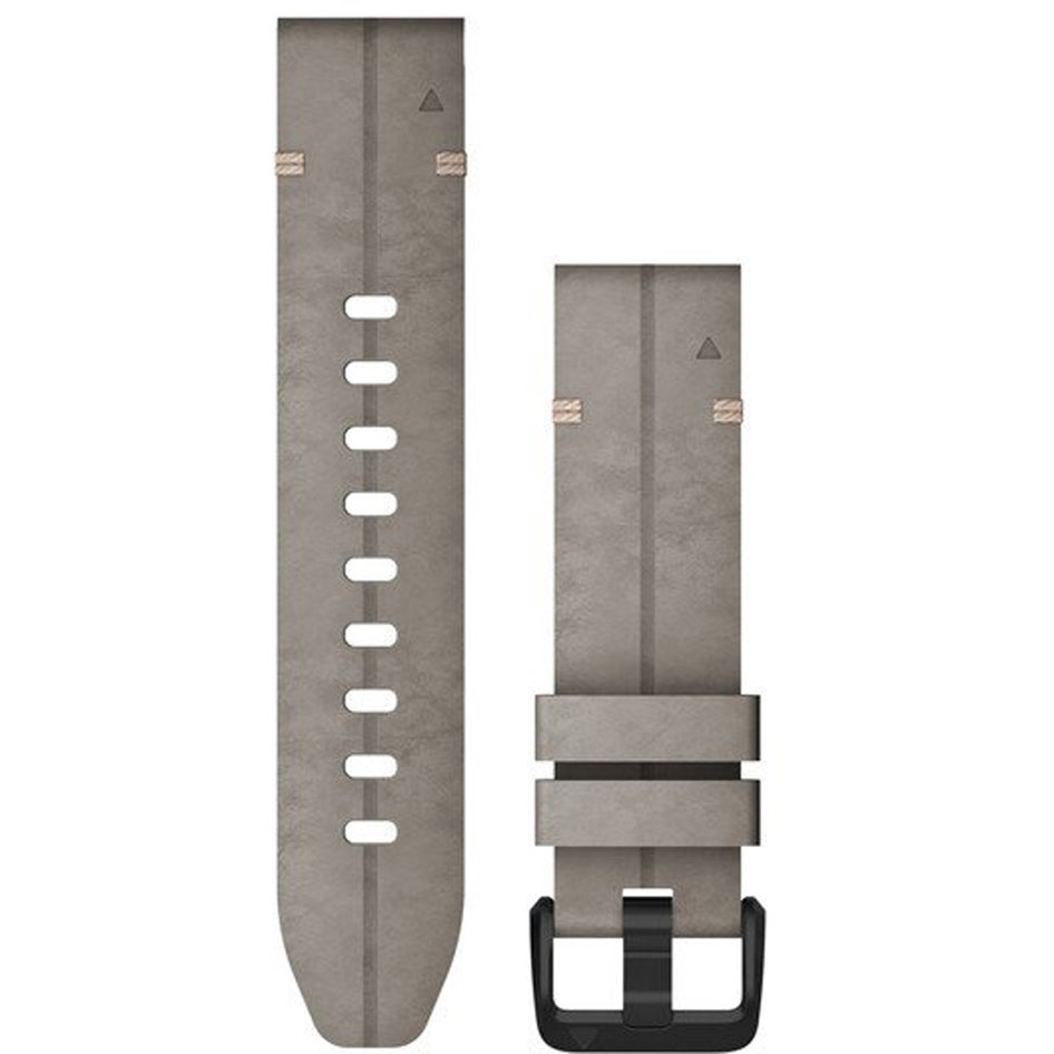 GARMIN QuickFit 20 Shale Gray Suede Leather Replacement Strap