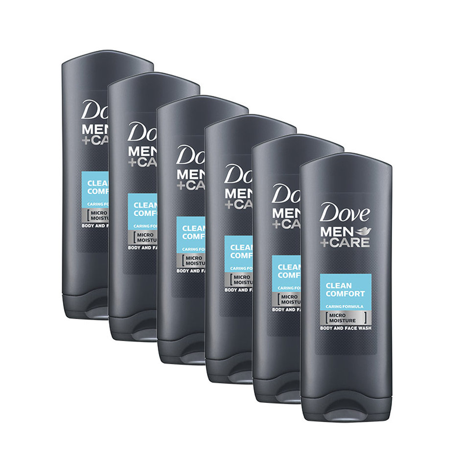 Αφρόλουτρο Dove Men Care Clean Comfort Body & Face Wash 250 ml 6 τμχ DOVE-CareCom250-6PCS