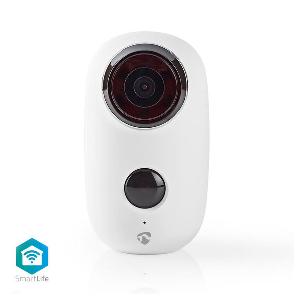 NEDIS WIFICBO10WT Rechargeable IP Camera Outdoor PIR Motion Sensor microSD 6000
