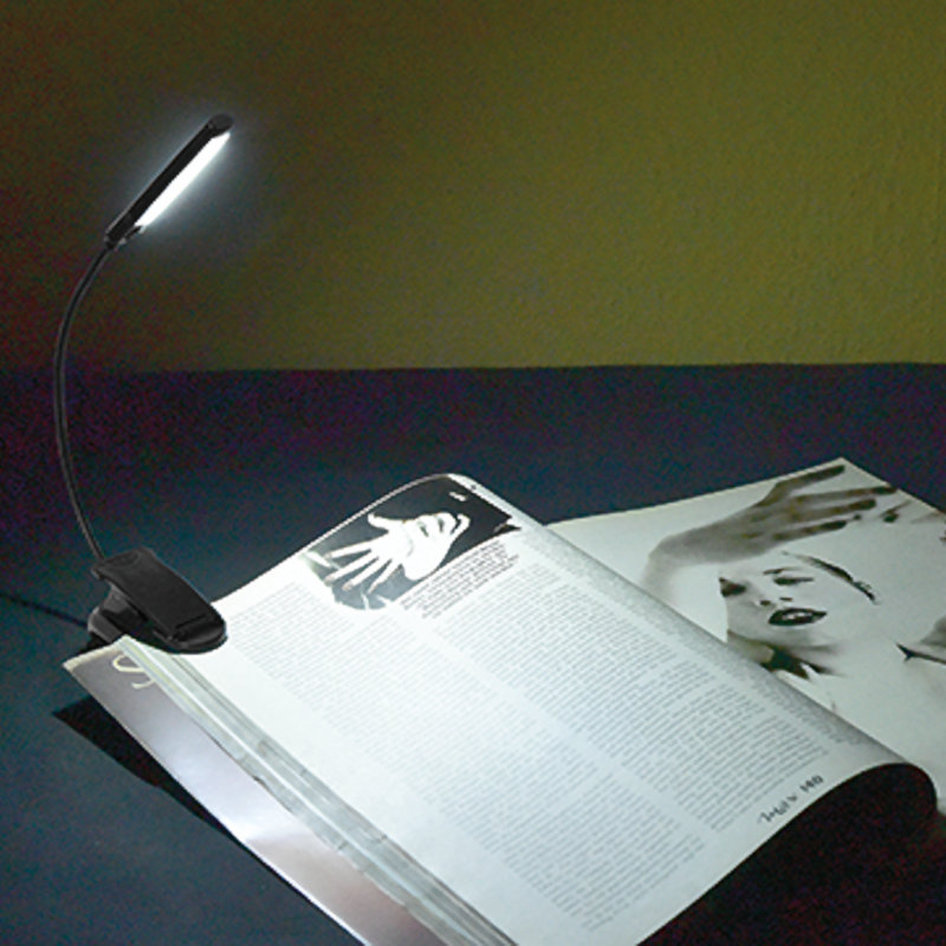 Heitech 04003591 COB LED Book light με κλιπ 3 W