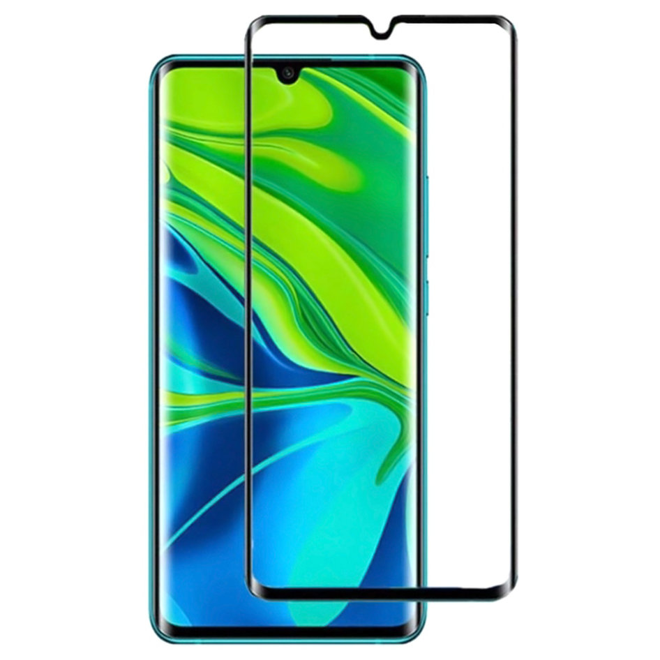 POWERTECH Tempered Glass 3D, Full Glue, Xiaomi Mi Note 10/10 Pro, μαύρο