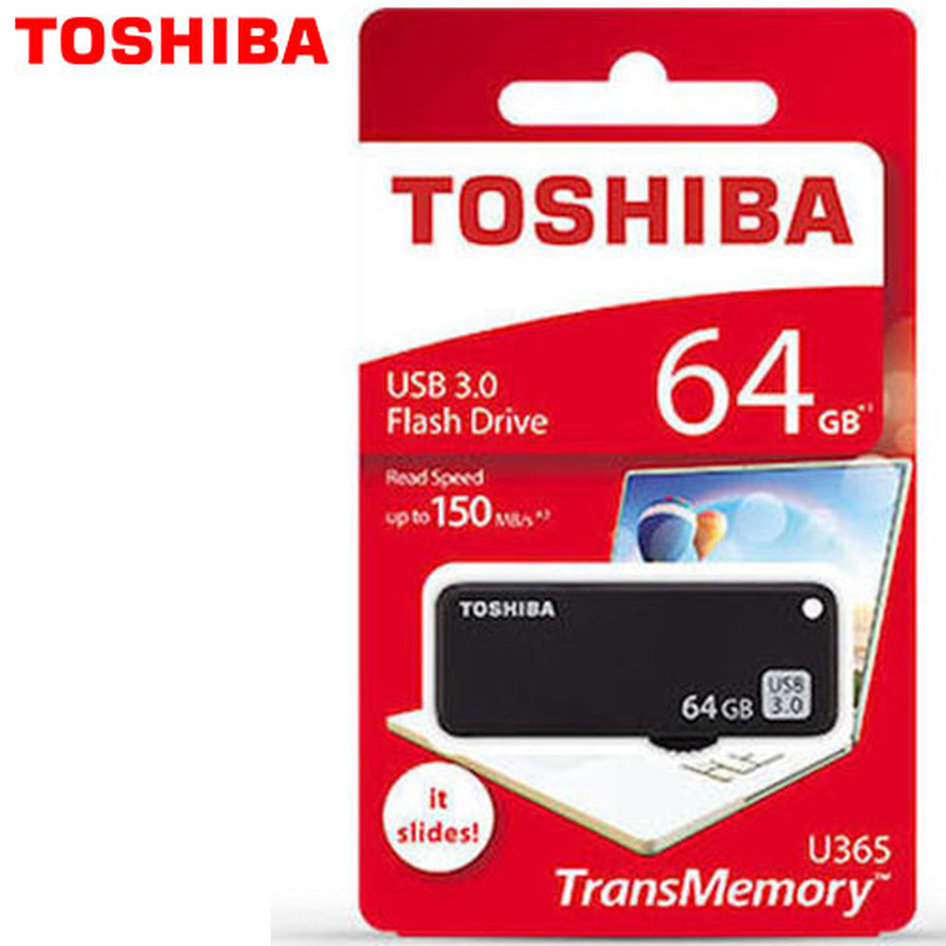 TOSHIBA USB3.0 FLASH U365 64GB BLACK