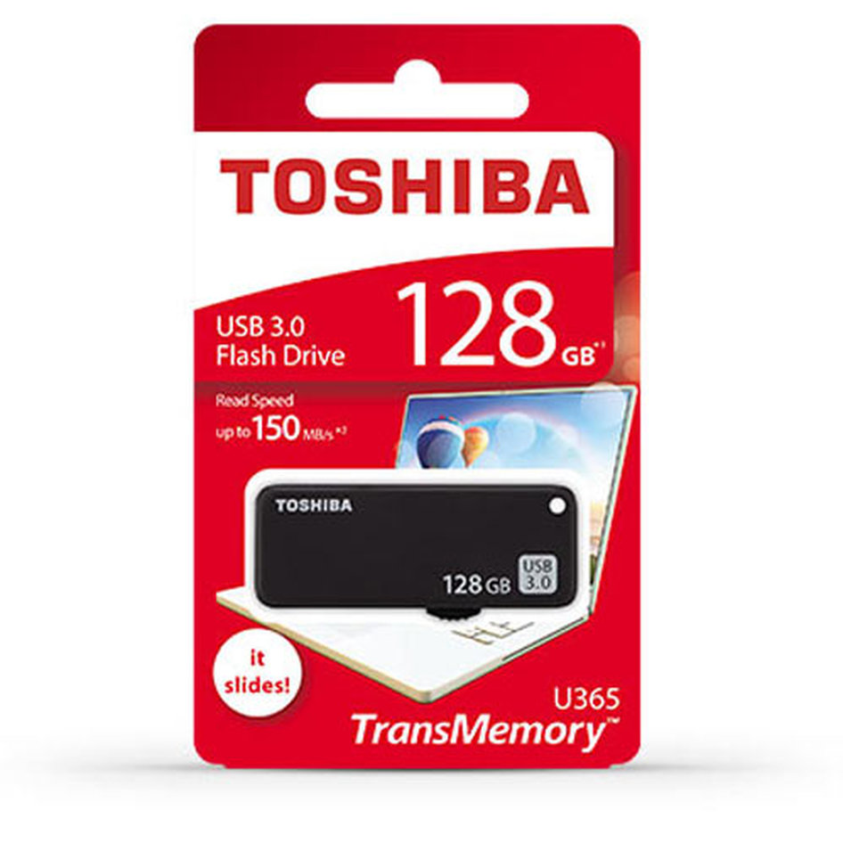 TOSHIBA USB3.0 FLASH U365 128GB BLACK