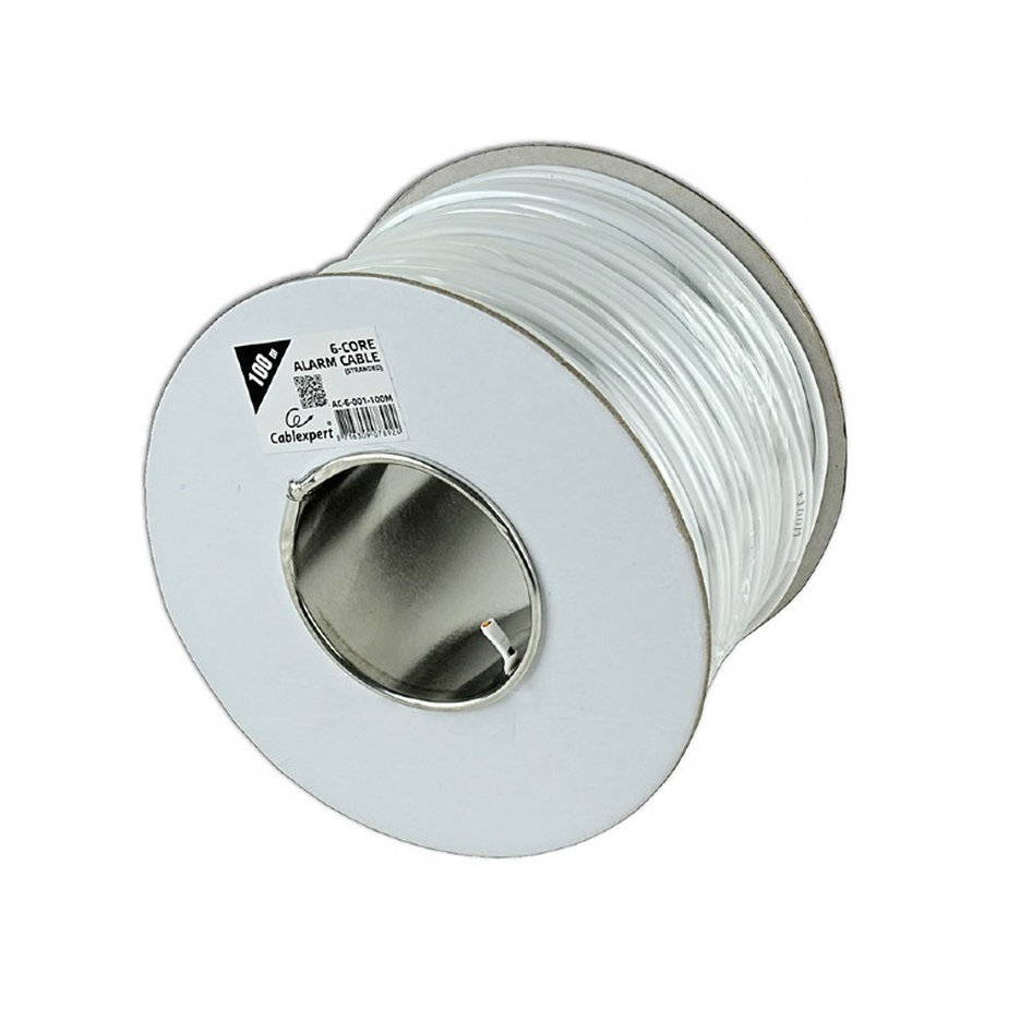 CABLEXPERT ALARM CABLE 100M ROLL WHITE UNSHIELDED