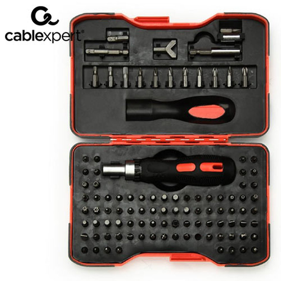 CABLEXPERT RATCHET SCREWDRIVER BIT SET 101PCS