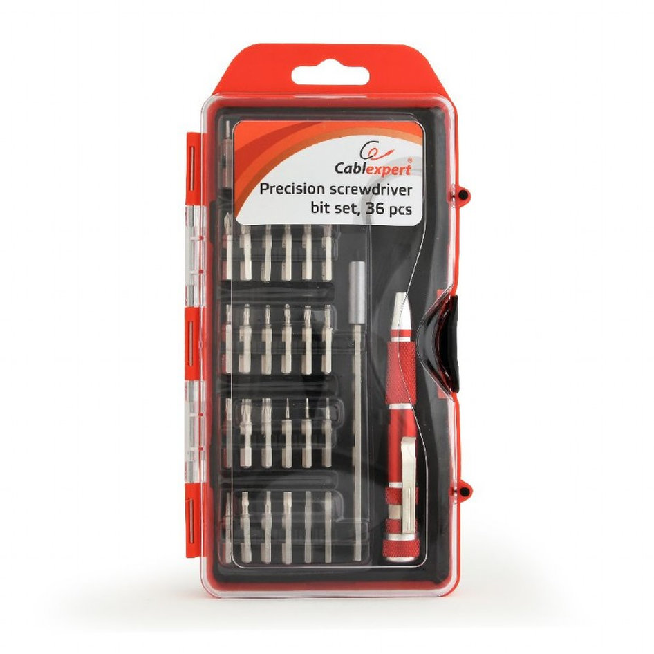 CABLEXPERT PRECISION SCREWDRIVER BIT SET 36PCS