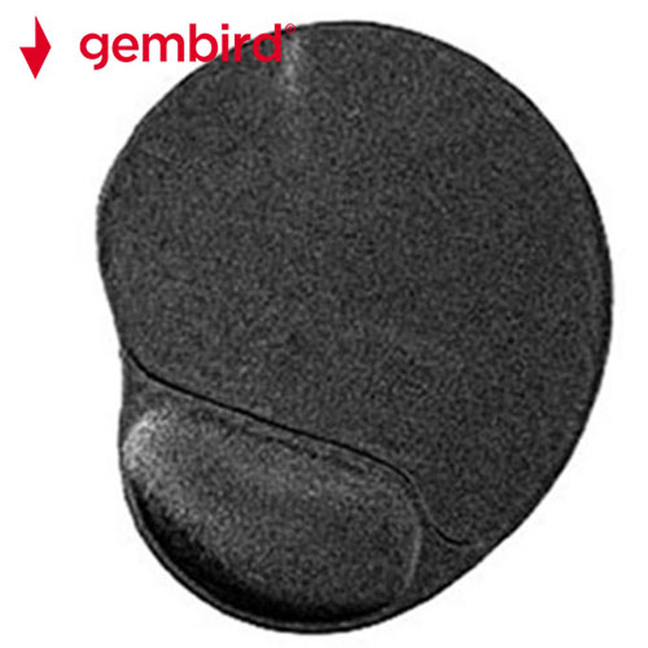GEMBIRD GEL MOUSE PAD WITH WRIST REST BLACK