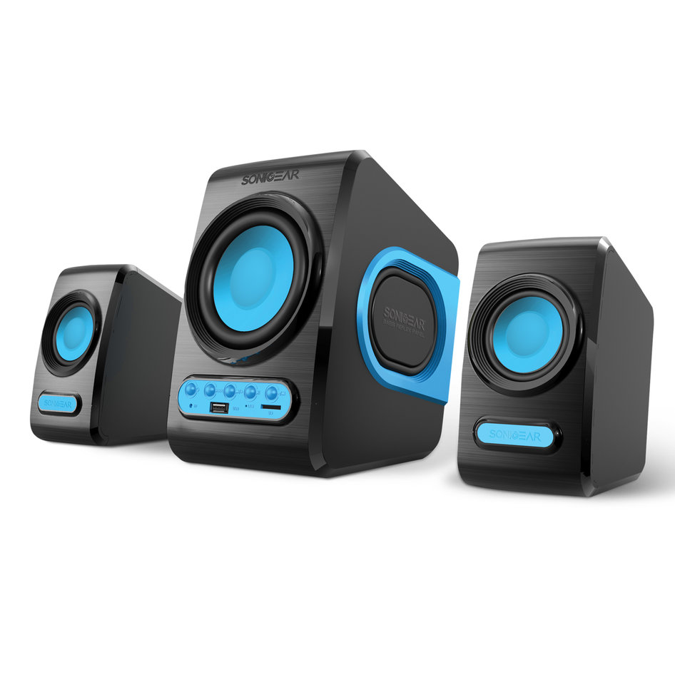 SONIC GEARS USB POWERED XTREME BASS SPEAKERS 2,1 BLACK TURQUILA