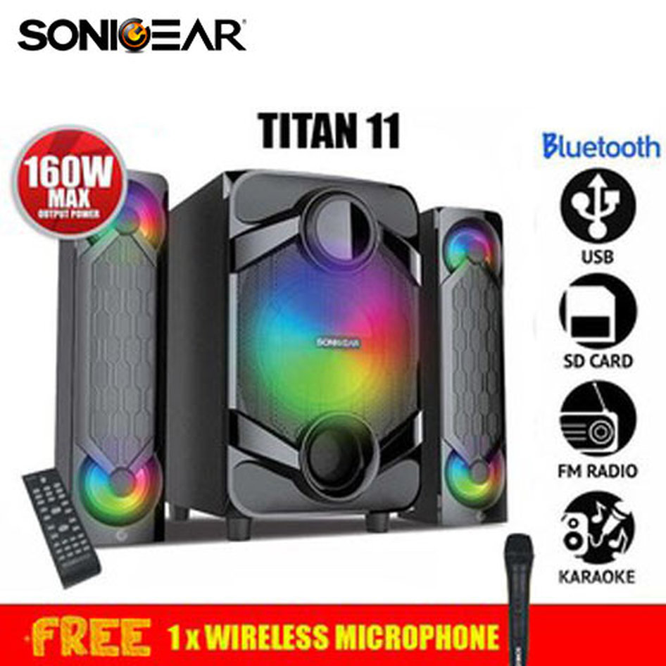 SONICGEAR BLUETOOTH 2,1 SPEAKER SYSTEM WITH REMOTE CONTROL