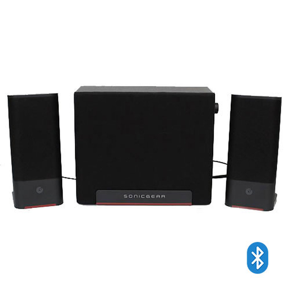 SONIC GEAR 2,1 HI-FI BLUETOOTH SPEAKERS SPACE 3 MAROON