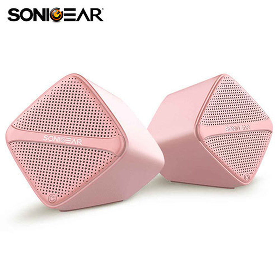 SONIC GEAR SPEAKERS USB DIGITAL AMP + MICRO DRIVER PEACH