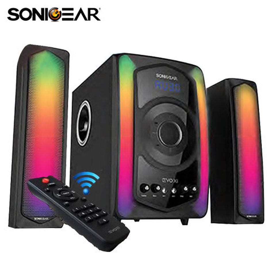 SONIC GEAR BLUETOOTH 2,1 SPEAKER WITH REMOTE CONTROL EVO 11