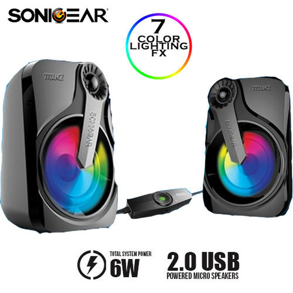 SONIC GEAR USB 2.0 SPEAKER SYSTEM WITH HUGE BASS