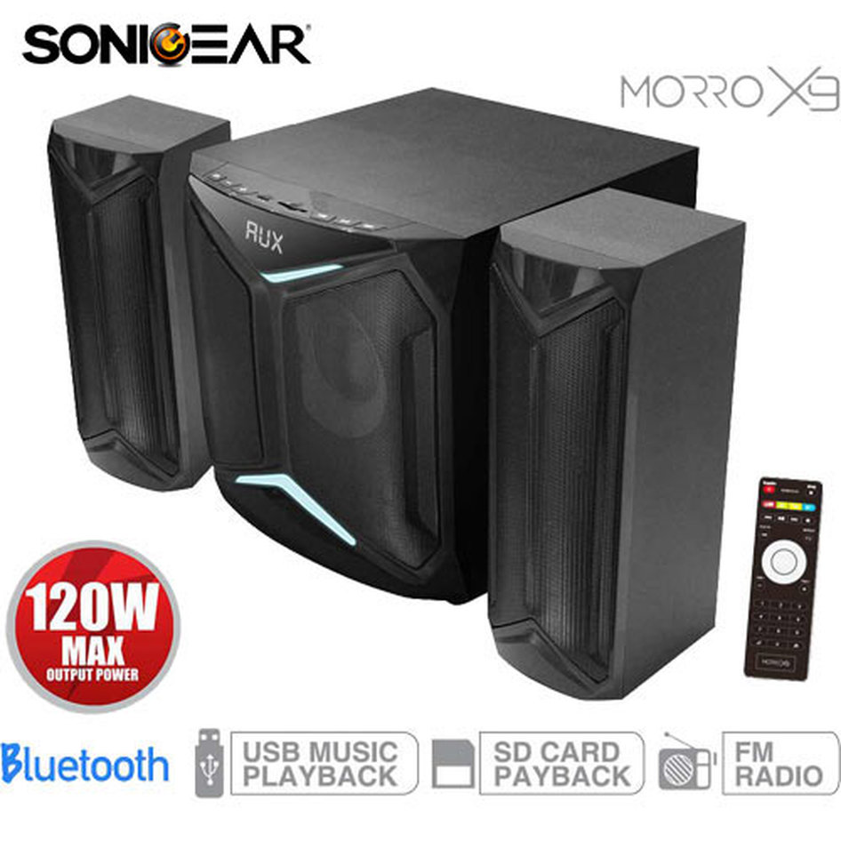 SONIC GEAR 2.1 MULTIMEDIA BLUETOOTH SPEAKER MORRO X9