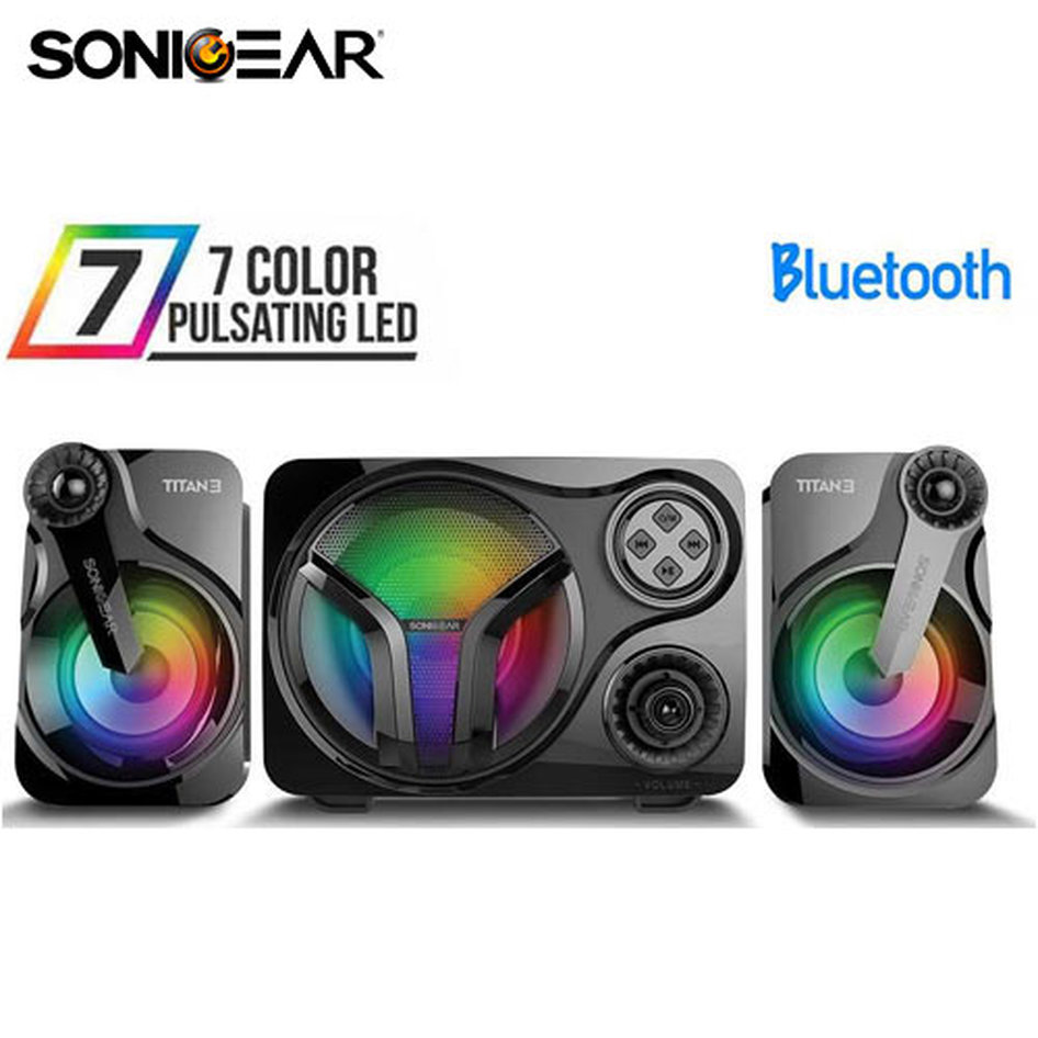 SONIC GEAR STEREO BLUETOOTH 2.1 SPEAKER SYSTEM TITAN 3