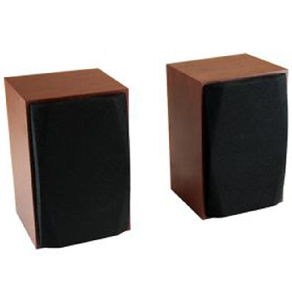 MEDIATECH WOOD-X STEREO SPEAKERS 10W RMS USB POWERED WOODEN CASES