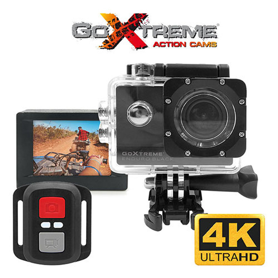 GOXTREME ACTION CAMERA 4K WITH REMOTE CONTROL ENDURO BLACK