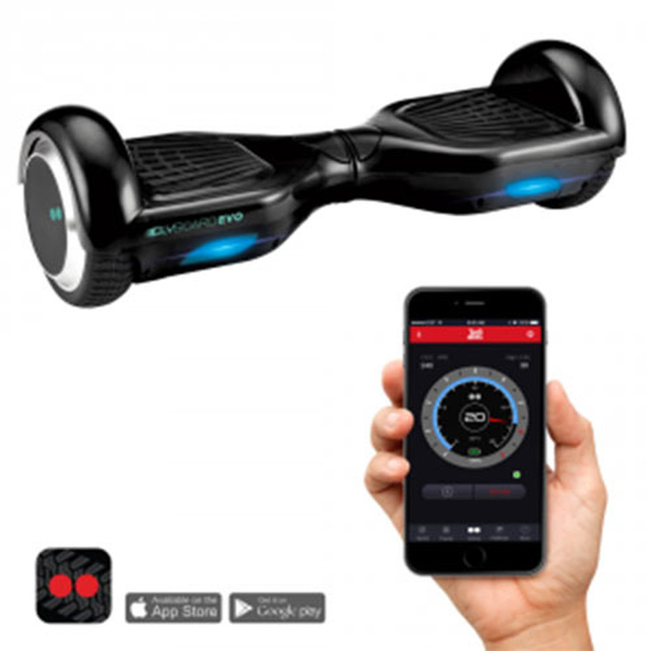 TWO DOTS GLYBOARD EVO HOVERBOARD BLACK