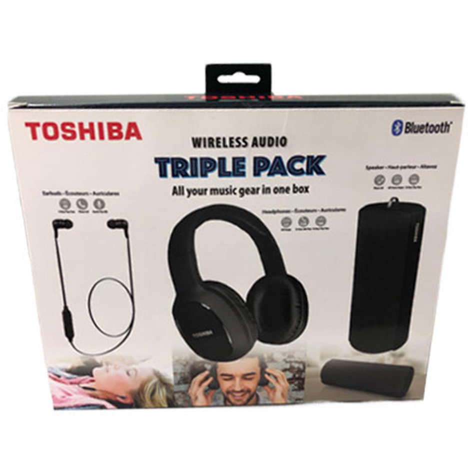 TOSHIBA AUDIO WIRELESS 3 IN 1 COMBO PACK BLACK