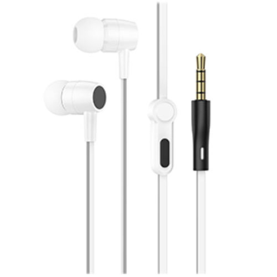 LAMTECH HANDSFREE WITH MIC 3,5MM JACK WHITE