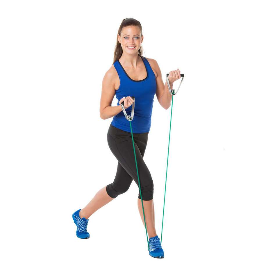 Thera-Band Σωληνωτό Λάστιχο Αντίστασης (Body Trainer Tubes) με Μαλακές Λαβές Πράσινο - Σκληρό21723 Thera-band