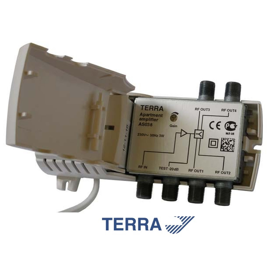 TERRA AS038 Apartment amplifier 4 εξόδων