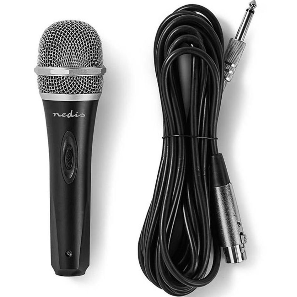 NEDIS MPWD50BK Wired Microphone -72 dB +/-3dB Sensitivity 50 Hz - 15 kHz 5.0 m  (hot weekends)