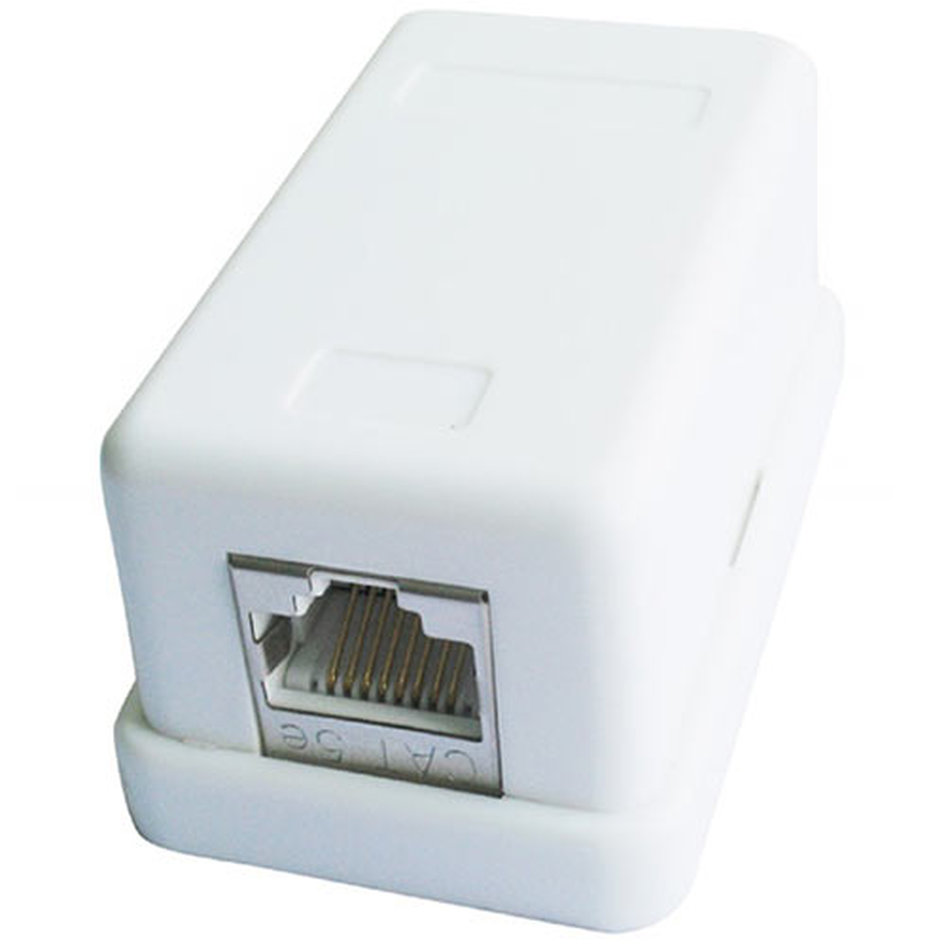 CABLEXPERT SINGLE PORT CAT5e SURFACE MOUNT BOX WHITE