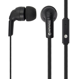 TITANUM earphones TH109K, stereo, 3.5mm, 108dB, 1.2m, μαύρα