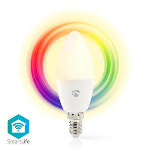NEDIS WIFILC11WTE14 Wi-Fi Smart LED Bulb Full Colour and Warm White E14