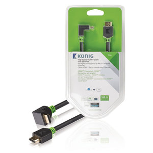 KNV 34200E 3.00 High Speed HDMI Cable with Ethernet HDMI Connector Angled 90° 3.